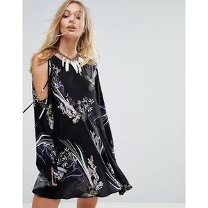 Free People Floral Cold Shoulder Tunic Dress S